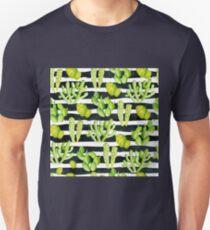cactuses on black watercolor stripes T-Shirt
