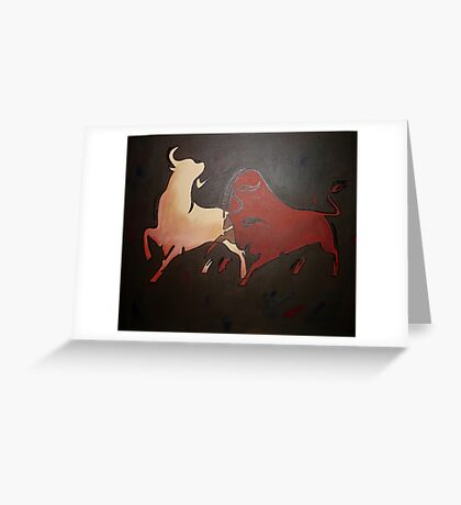 Bullfight 2 Greeting Card