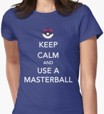 Keep Calm And Use A Masterball Women's Fitted T-Shirt