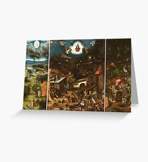 Hieronymus Bosch - The Last Judgement 1482 png Greeting Card