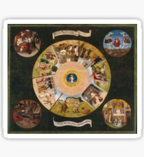 Hieronymus Bosch - The Seven Deadly Sins And The Four Last Things 1485 Sticker