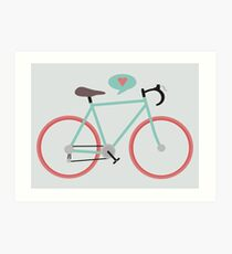 I love cycling Art Print