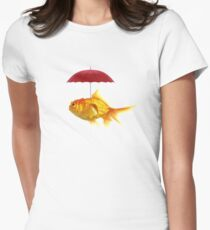 fish umbrellas Women's Fitted T-Shirt