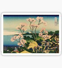 Hokusai Katsushika - Goten-yama-hill, Shinagawa on the Tokaido Sticker
