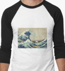 Hokusai Katsushika - Great Wave off Kanagawa Men's Baseball ¾ T-Shirt
