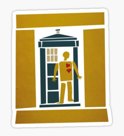 Saul Bass Tardis Sticker