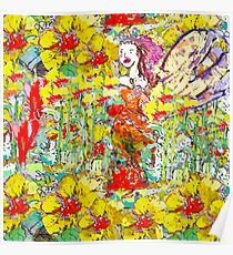The Colourful Garden and Fairy  Poster