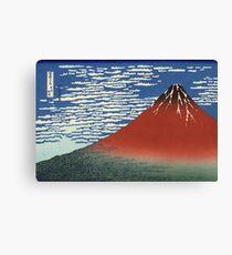Hokusai Katsushika - Red Fuji southern wind clear morning Canvas Print