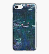 Claude Monet - The Water Lilies - Green Reflections (1915 - 1926)  iPhone Case/Skin