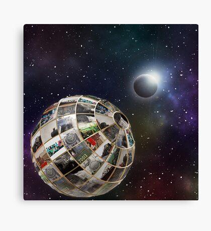 Steam planet  Canvas Print