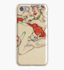 Egon Schiele - Lovers (1913)  iPhone Case/Skin