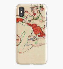 Egon Schiele - Lovers (1913)  iPhone Case/Skin