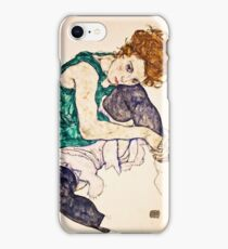 Egon Schiele - Seated Woman with Legs Drawn Up (Adele Herms) (1917)  iPhone Case/Skin