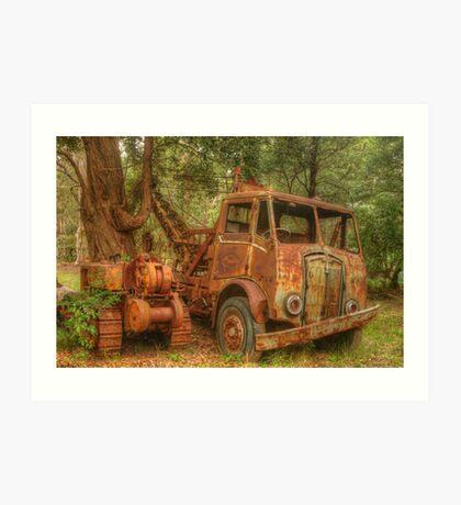Rusty Trusty & the Bulldozer Art Print
