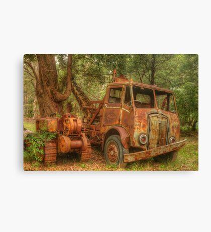 Rusty Trusty & the Bulldozer Canvas Print