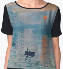 Claude Monet - Impression Sunrise 1872 Women's Chiffon Top