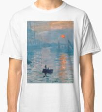 Claude Monet - Impression Sunrise 1872 Classic T-Shirt
