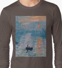 Claude Monet - Impression Sunrise 1872 Long Sleeve T-Shirt
