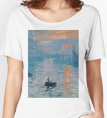 Claude Monet - Impression Sunrise 1872 Women's Relaxed Fit T-Shirt