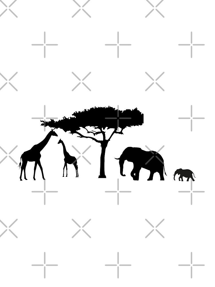 Black savannah background by autrouvetout