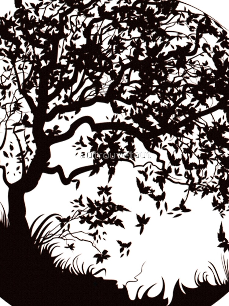black white tree by autrouvetout