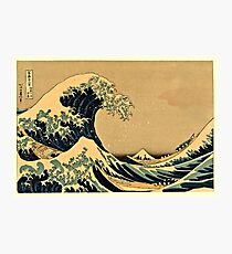 Katsushika Hokusai - The Great Wave Off the Coast of Kanagawa 19th century Photographic Print