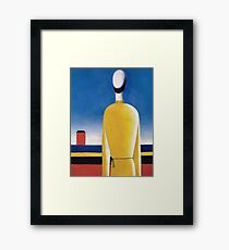 Kazemir Malevich - Half-Figure In Yellow Shirt Framed Print