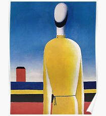 Kazemir Malevich - Half-Figure In Yellow Shirt Poster