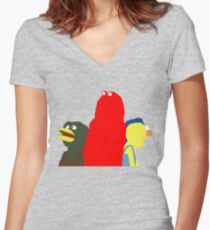 Don't Hug Me I'm Scared Women's Fitted V-Neck T-Shirt