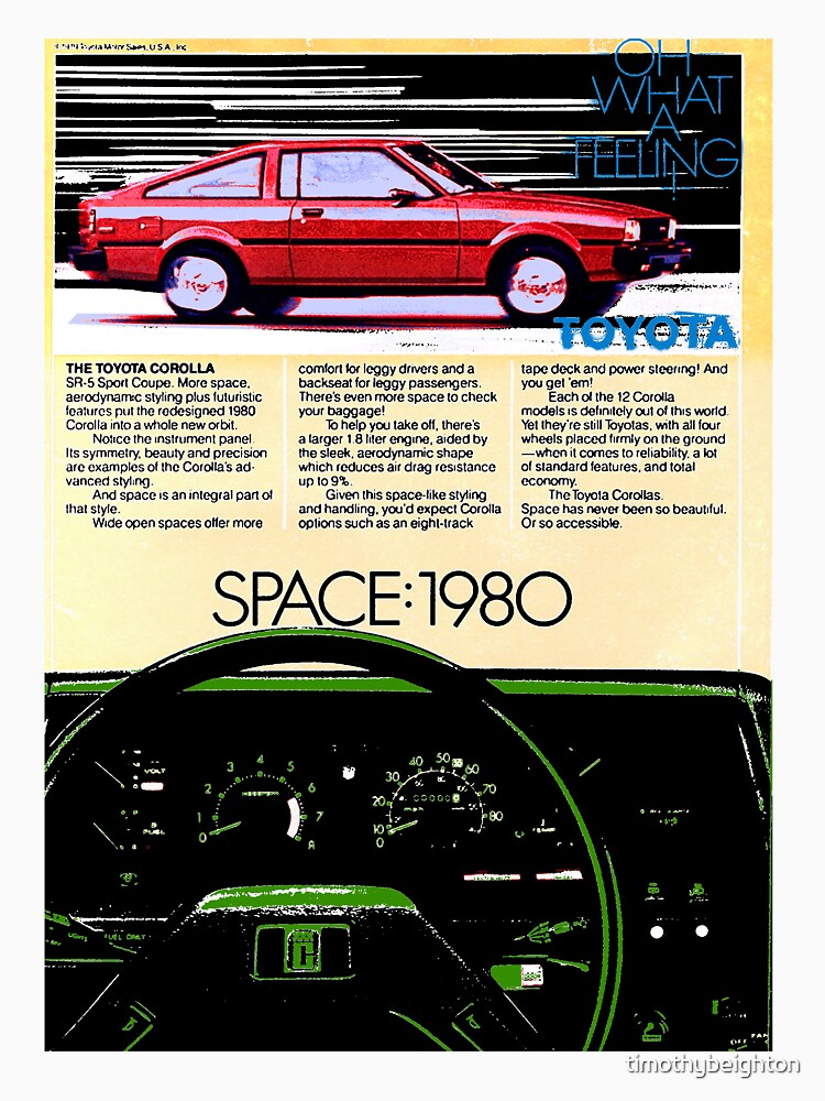 Toyota Corolla - Space 1980. Advert. by timothybeighton