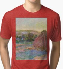 Claude Monet - Stacks of Wheat (End of Summer) (1890 91)  Tri-blend T-Shirt