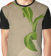 Single Red Tulip In A White Vase Graphic T-Shirt