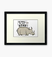 Carpooling Humour Framed Print