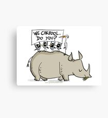 Carpooling Humour Canvas Print