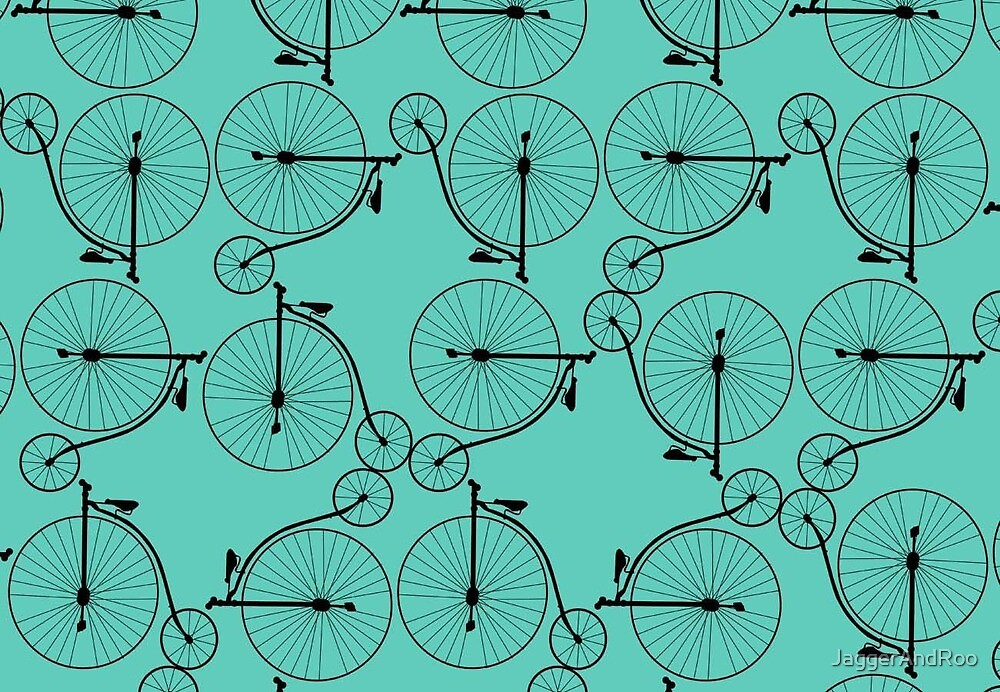 Penny Farthing Teal by JaggerAndRoo