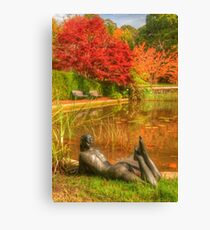 I'll just wait here till someone finds my clothes Canvas Print