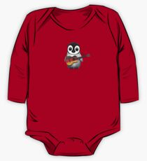 Baby Penguin Playing German Flag Guitar Red One Piece - Long Sleeve