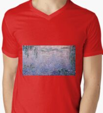 Claude Monet - The Water Lilies - Clear Morning with Willows (1915 - 1926)  T-Shirt