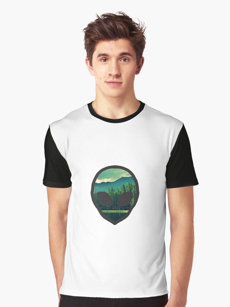 Forest Alien  Graphic T-Shirt Front