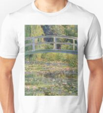Claude Monet - The Japanese Bridge The Water Lily Pond 1899 Unisex T-Shirt