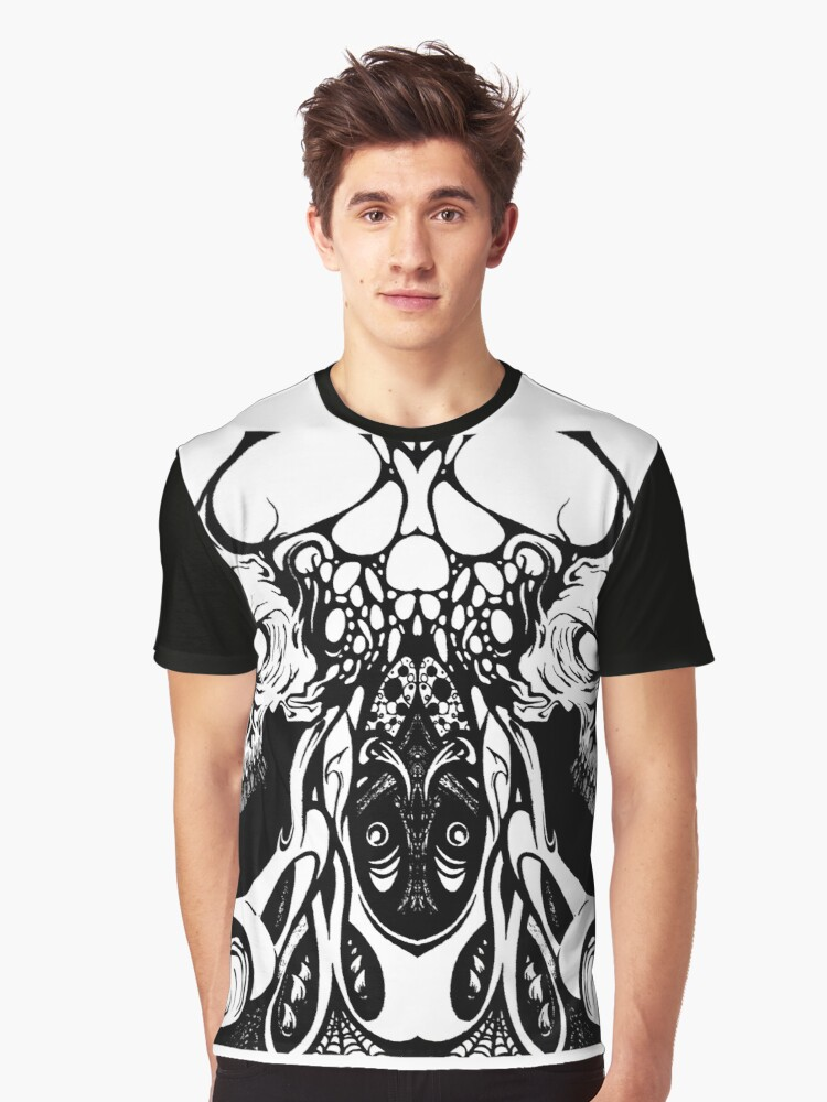 metal skull remix Graphic T-Shirt Front