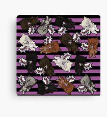 Swearwolves - pink Canvas Print