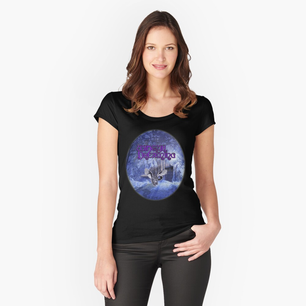 Different Worlds (Ellipse) Women's Fitted Scoop T-Shirt Front
