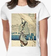 Ando Hiroshige - Eight Views Of Edo, Evening Snow At Asakusa, Date Unknown  T-Shirt