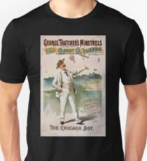 Performing Arts Posters George Thatchers Minstrels allied with Rich Harris Comedy Co in Tuxedo by Ed Marble 1745 Unisex T-Shirt