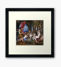 Titian - Diana And Actaeon - 1556-1559 Framed Print