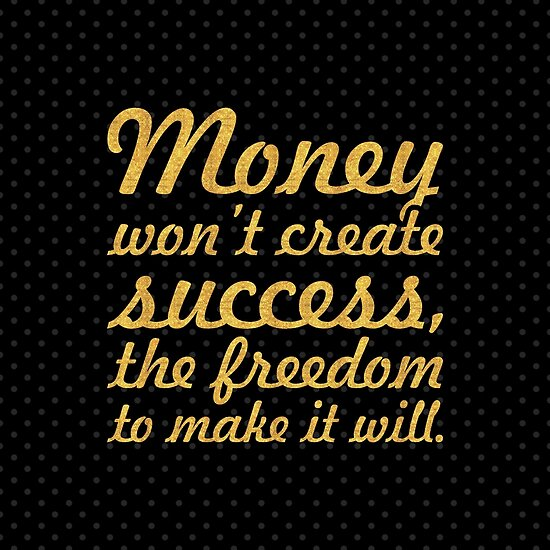 "Money won't create... ""Nelson Mandela"" Inspirational Quote (Square) by Powerofwordss"