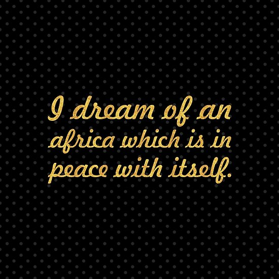 "A dream of an... ""Nelson Mandela"" Inspirational Quote (Square) by Powerofwordss"