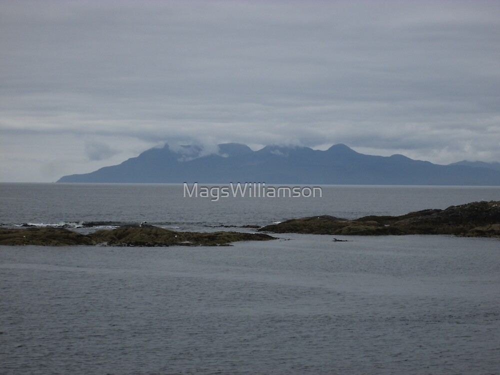 The Cuillins in Skye Viewed from Mallaig, Scotland by MagsWilliamson