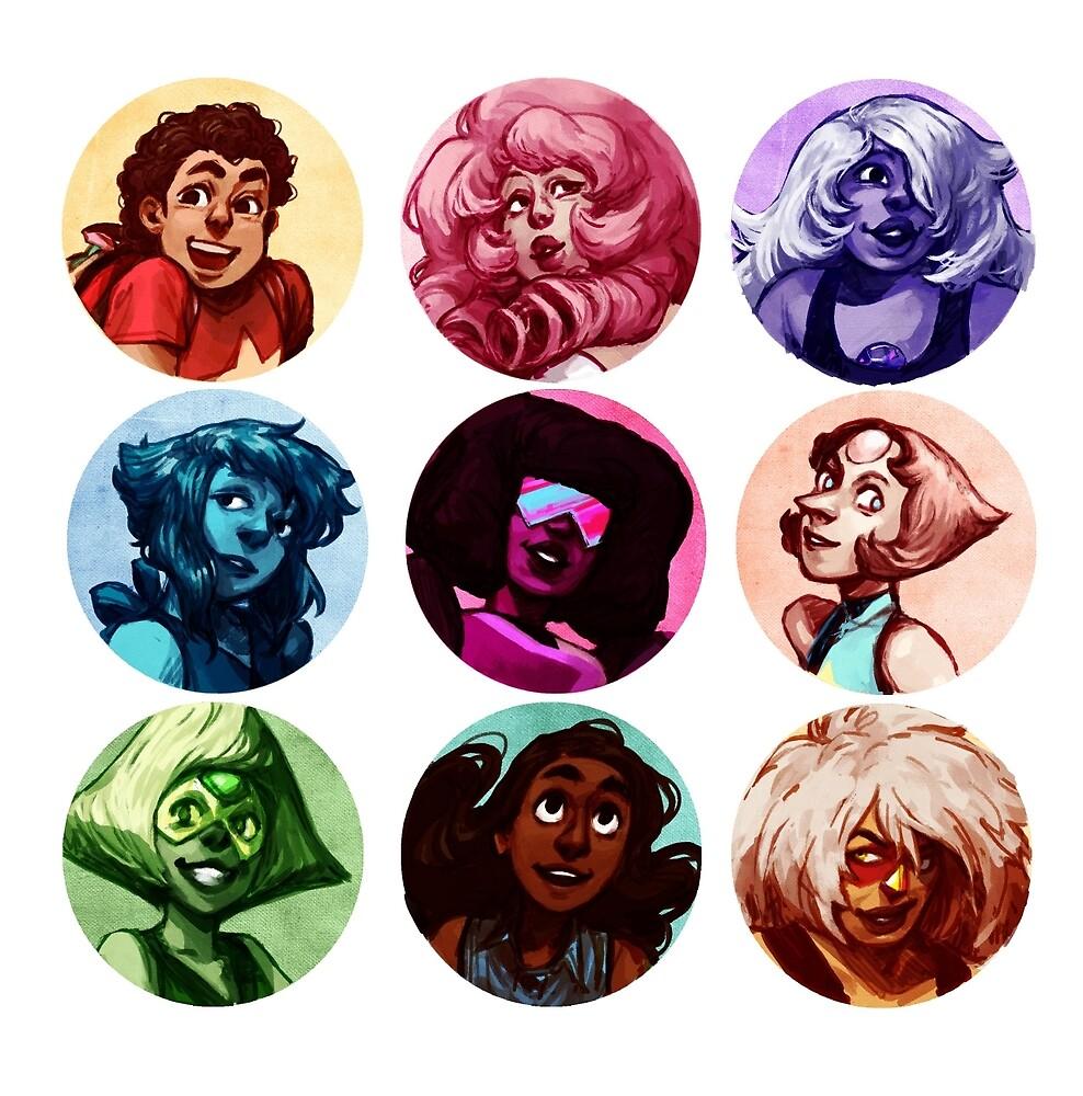 Steven Universe Portraits  by bluandorange
